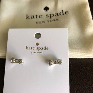 "❗️NEW❗️Kate Spade ""Ready Set Bow"" Silver Earrings"
